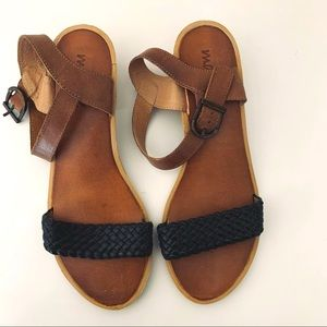 Matisse leather sandal angle strap | style Hayes